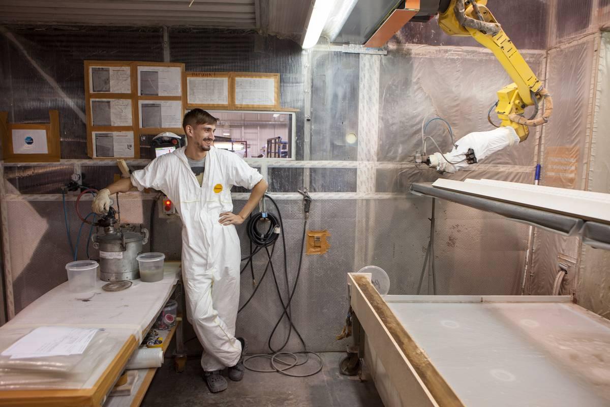 Фото фабрики покраски